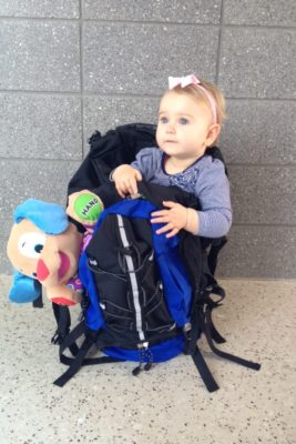 Flying with a baby - going through security