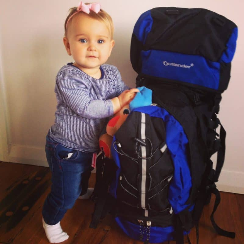 Packing for travelling with a baby