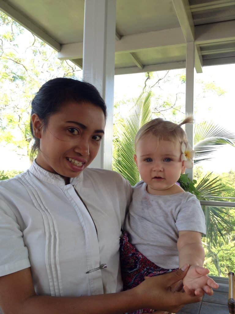 bali holiday with a baby