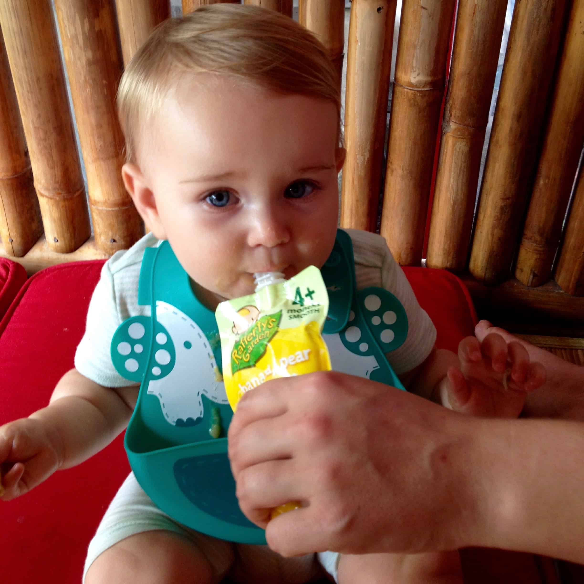 feeding fussy baby whilst travelling