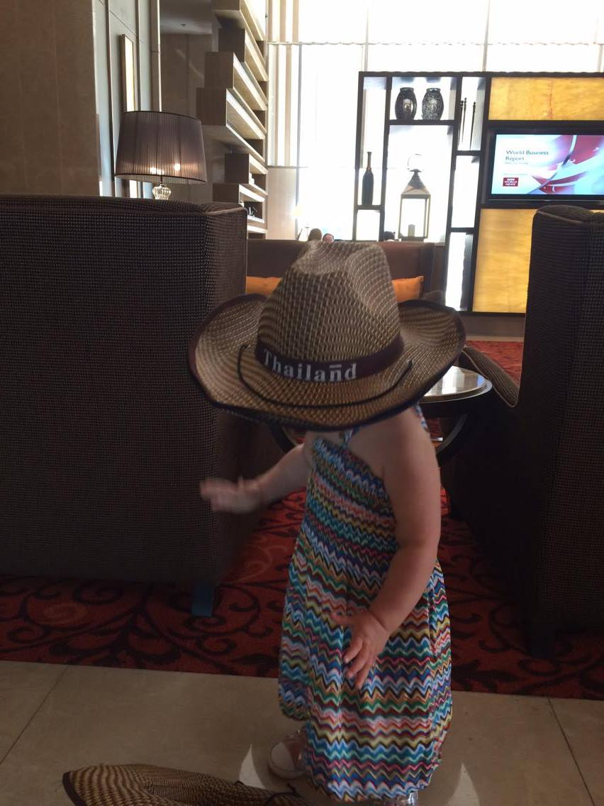 Top tips for flying with a toddler - Esmè running ragged in the airport shops