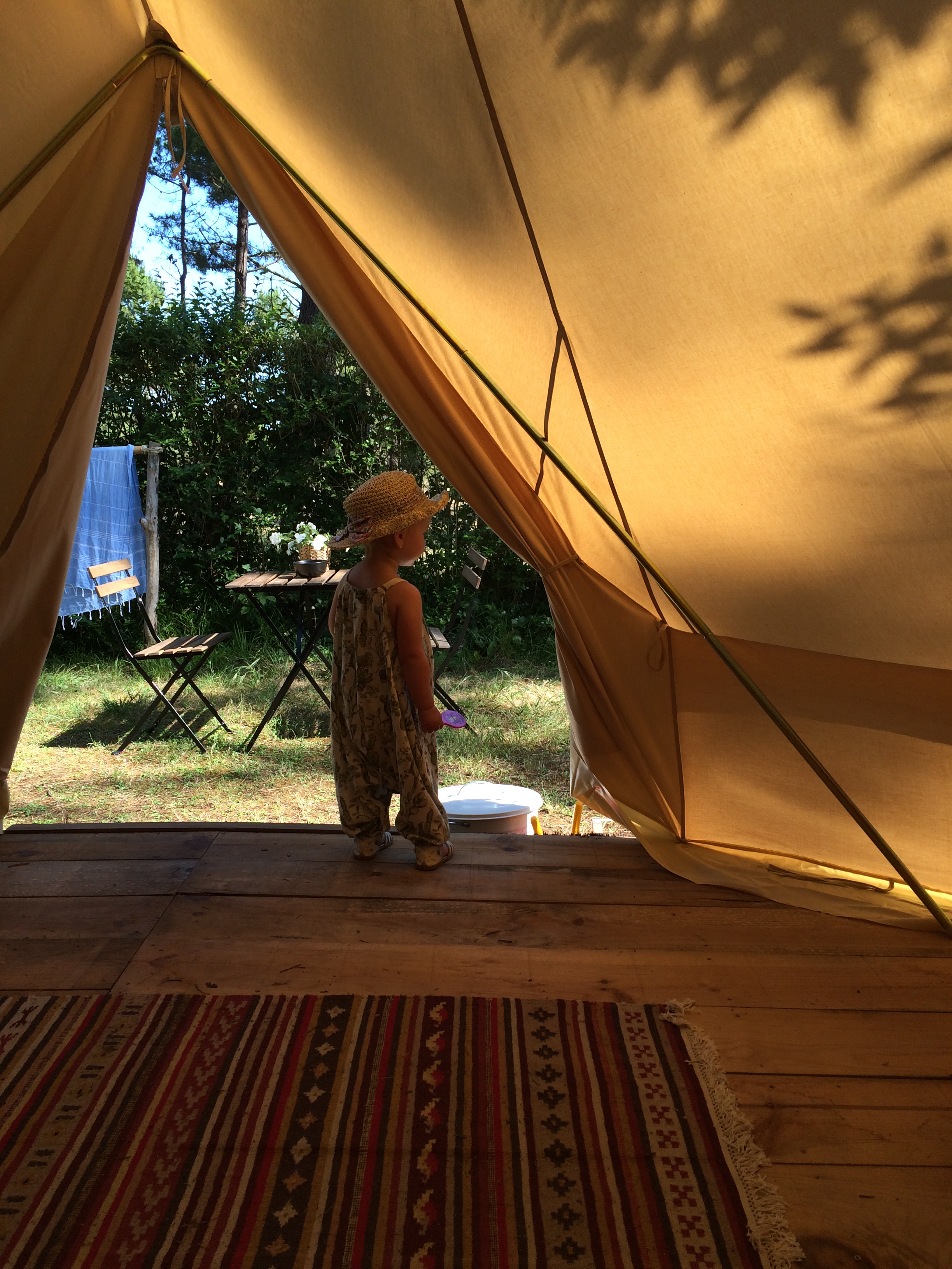 Glamping and surfing with a toddler