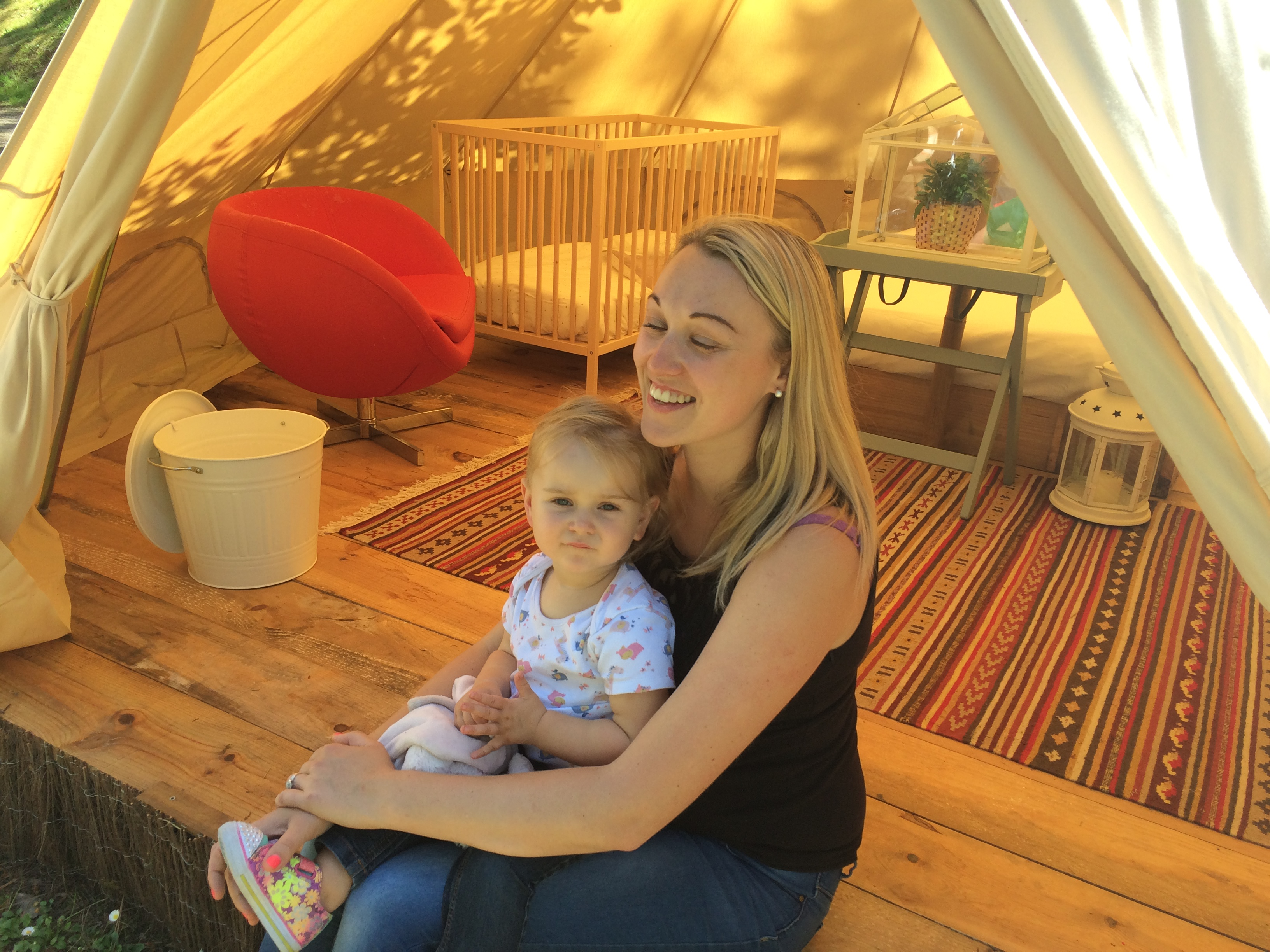 glamping with a toddler