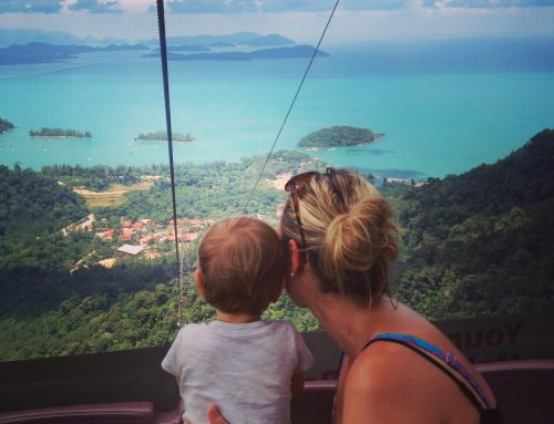 Langkawi, Malaysia with a baby