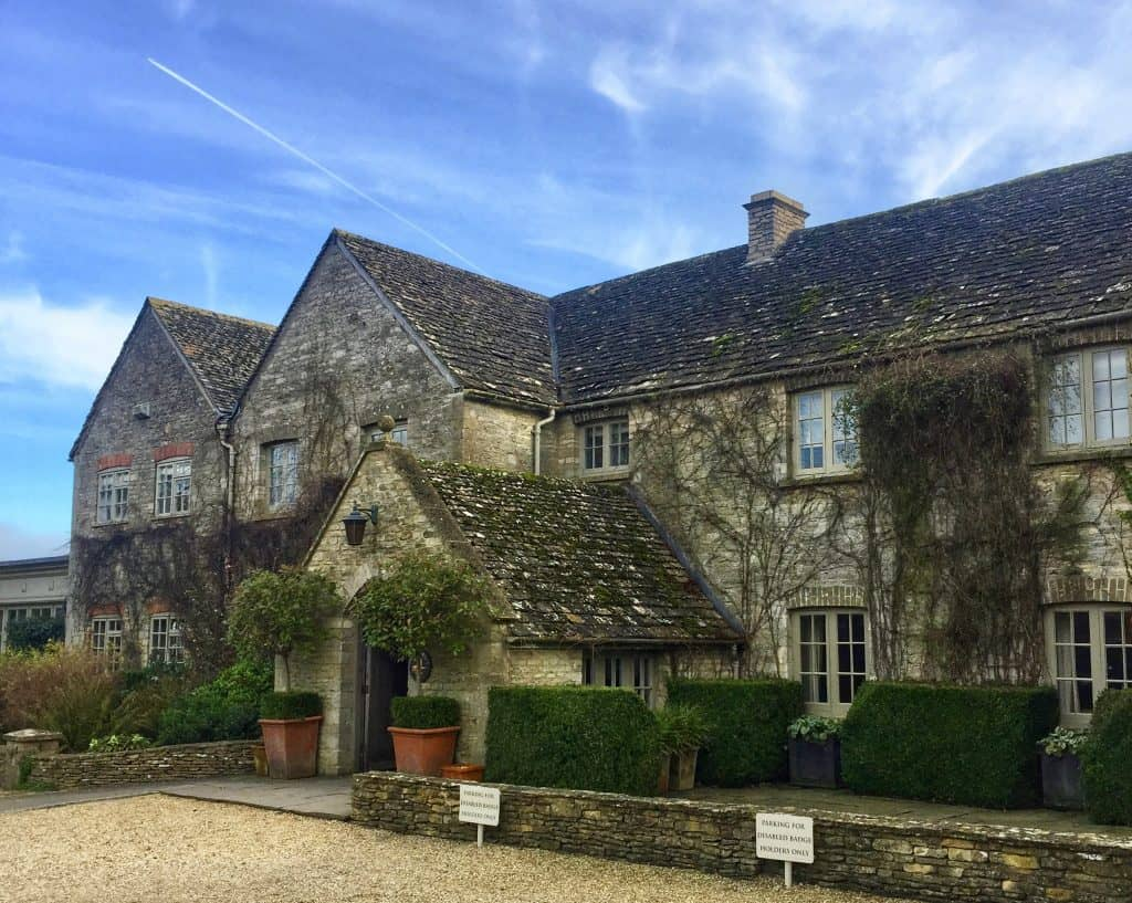 A photo of the entrance of Calcot Manor Hotel and Spa