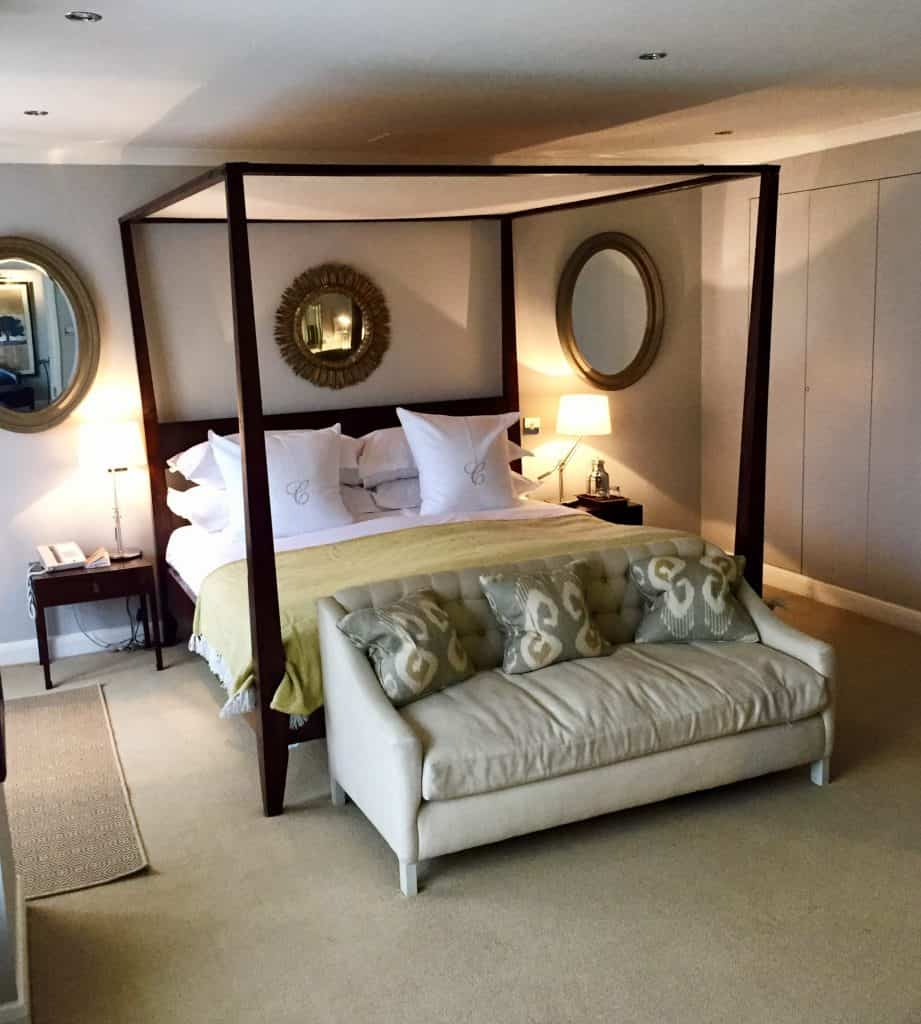 Master bedroom in the Tetbruy Deluxe Family Suite - Calcot Manor Review