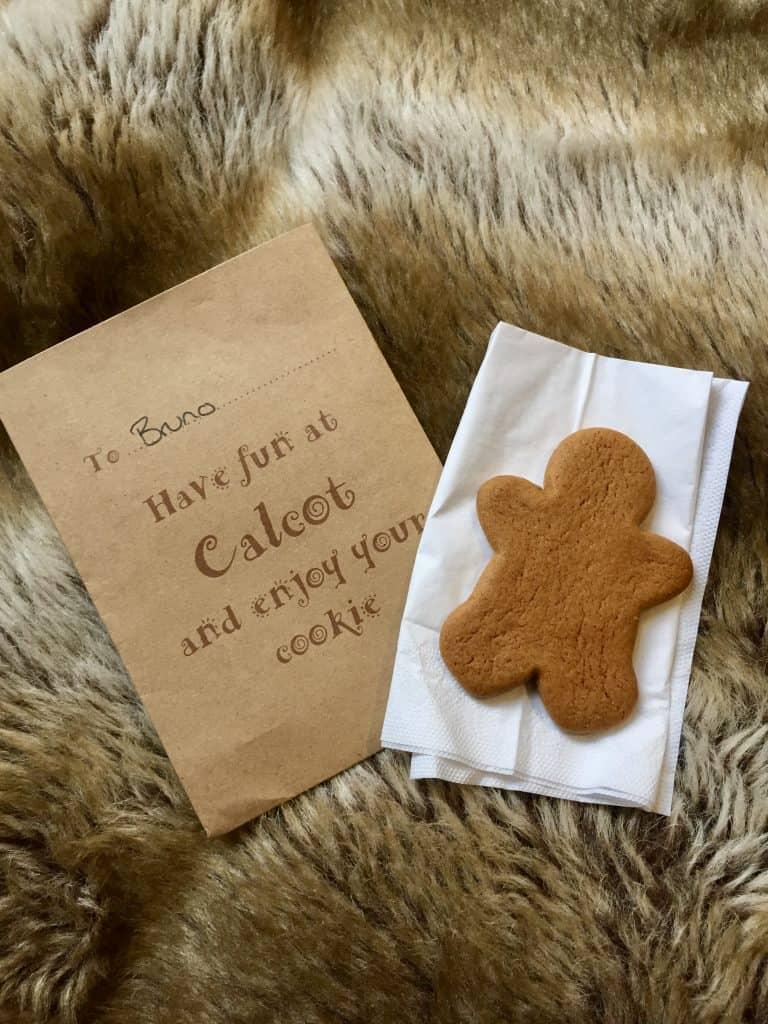 A ginger bread cookie in my sons bedroom at Calcot Manor Hotel & Spa