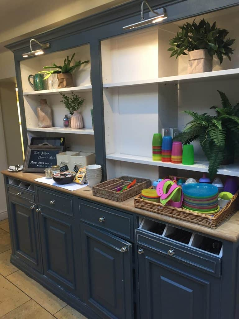 The kids breakfast dresser at Calcot Manor Hotel & Spa