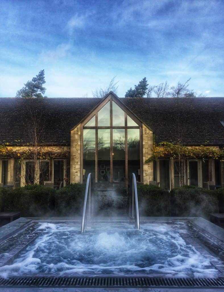 The hot tub - Calcot Manor Review