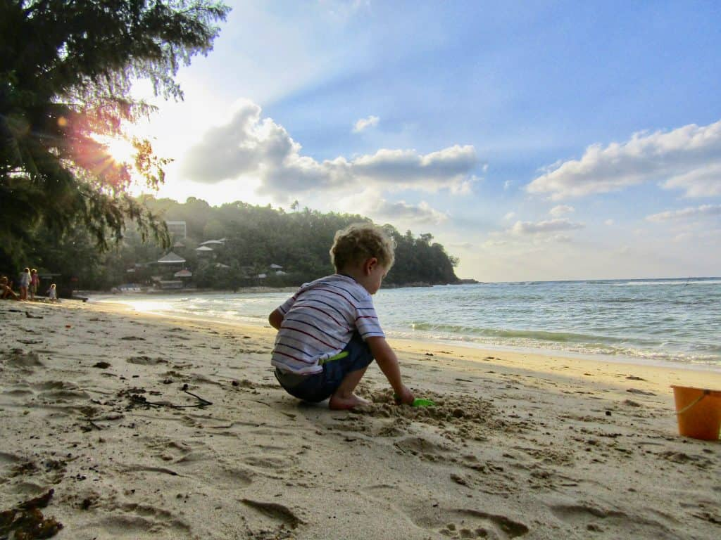 Koh Phangan with kids beach photo