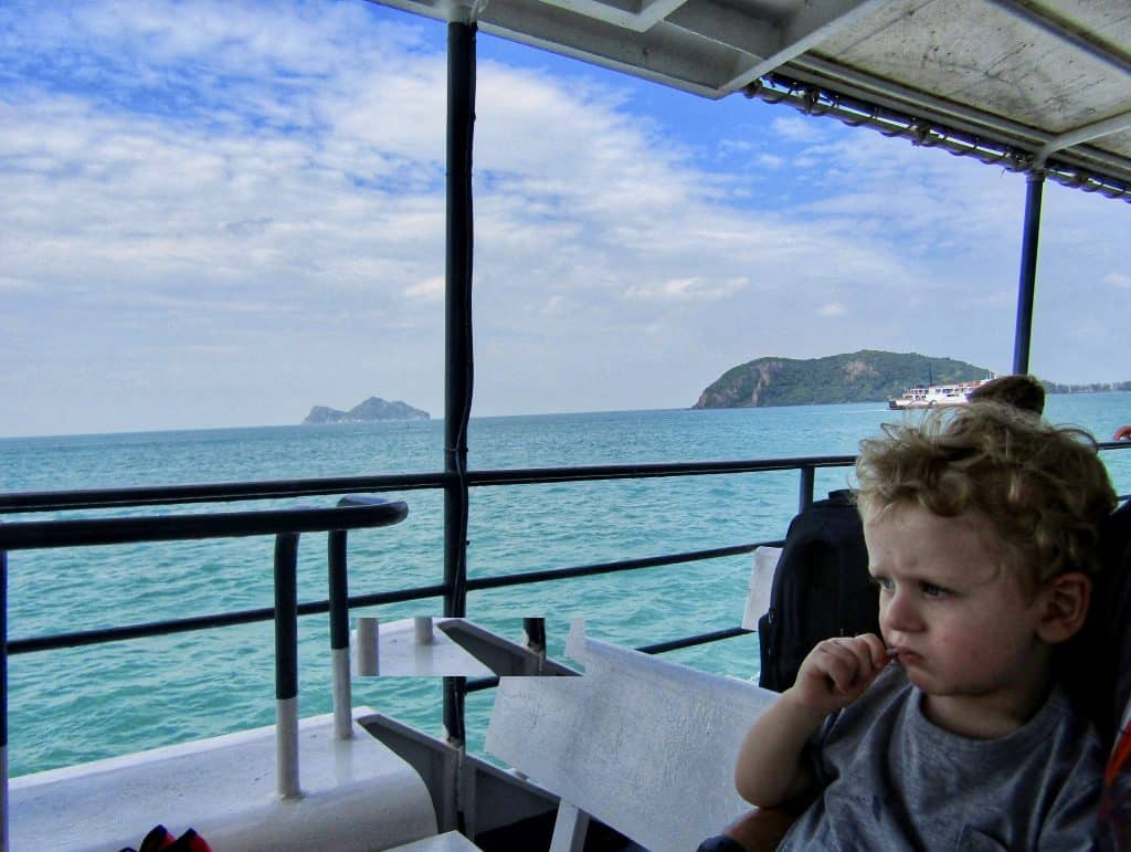 Koh Phangan with kids ferry crossing