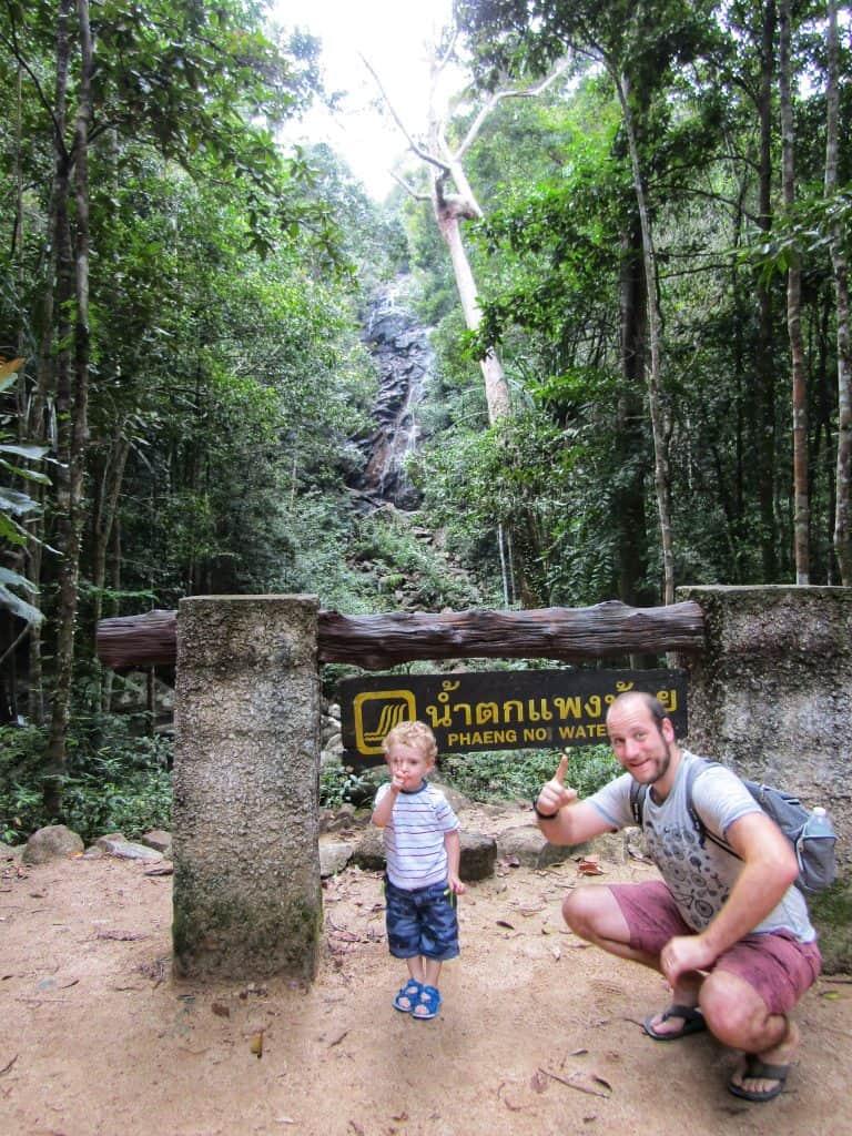 Phaeng Waterfall, Koh Phangan with kids