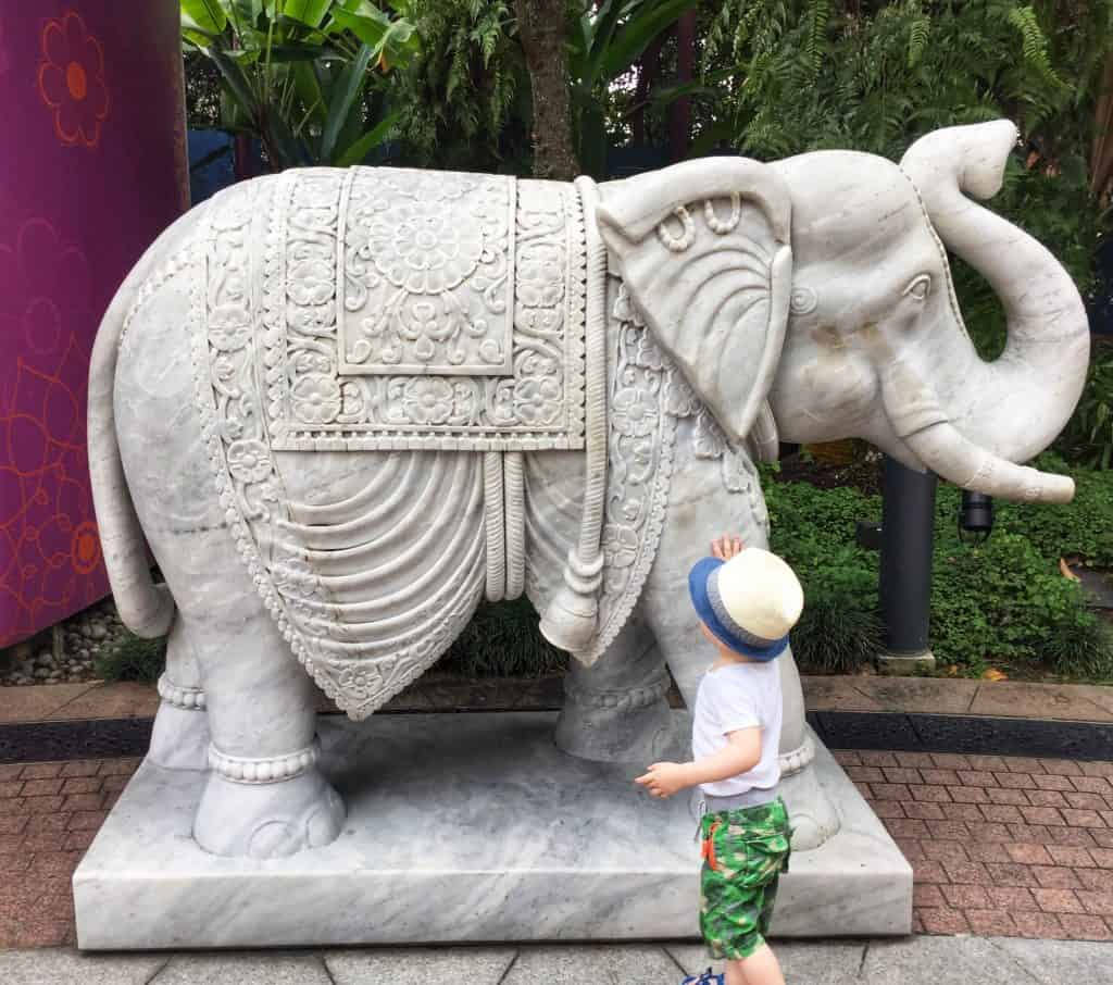 Singapore with a toddler Gardens by the bay