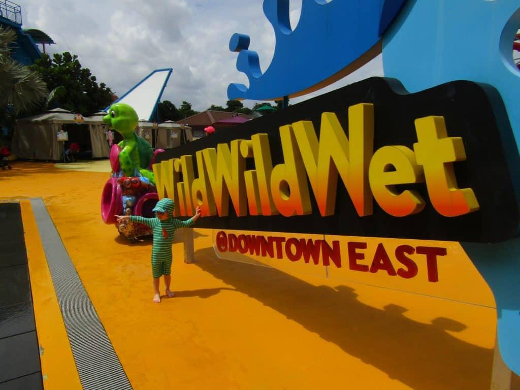 Singapore with a toddler Wild Wild Wet