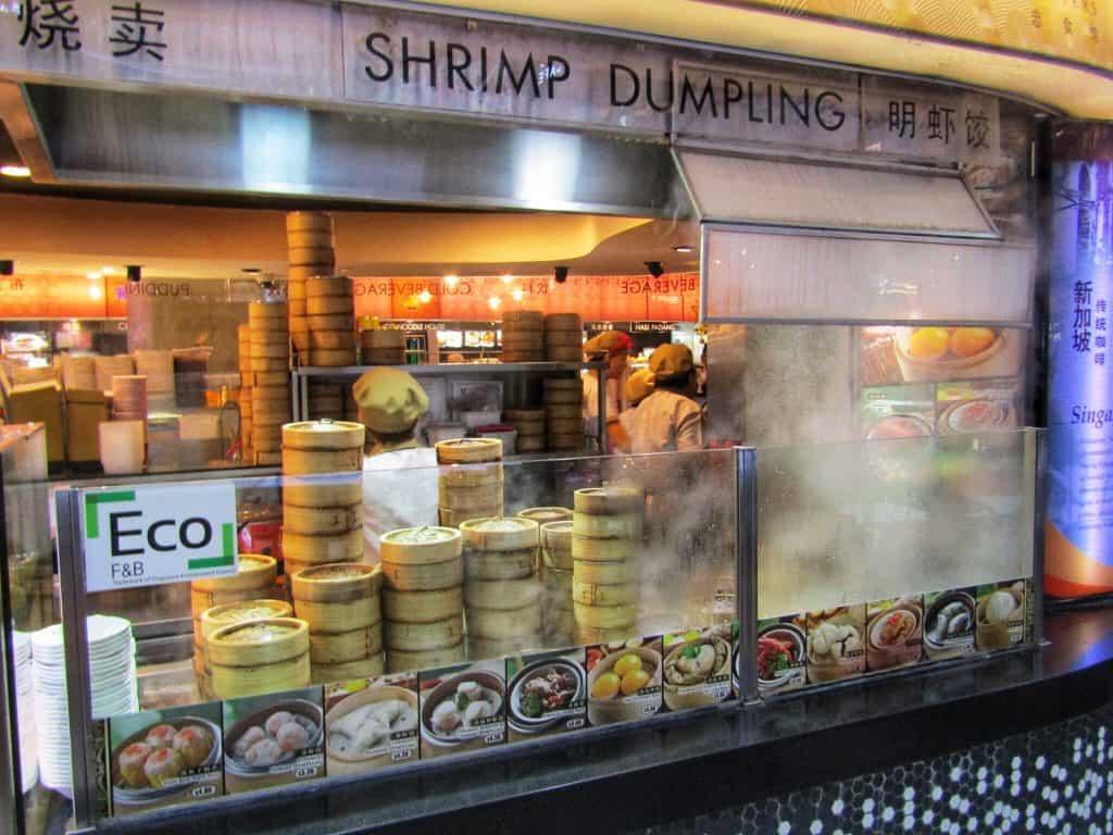 Dumpling stand Marina Bay mall