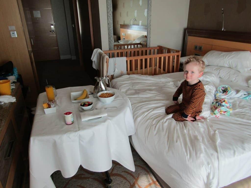Room service, Marina Bay Sands