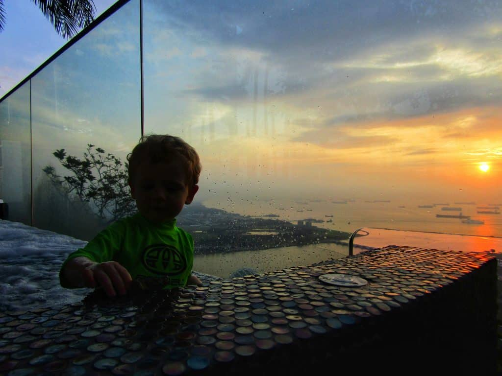 Singapore with a toddler sunrise