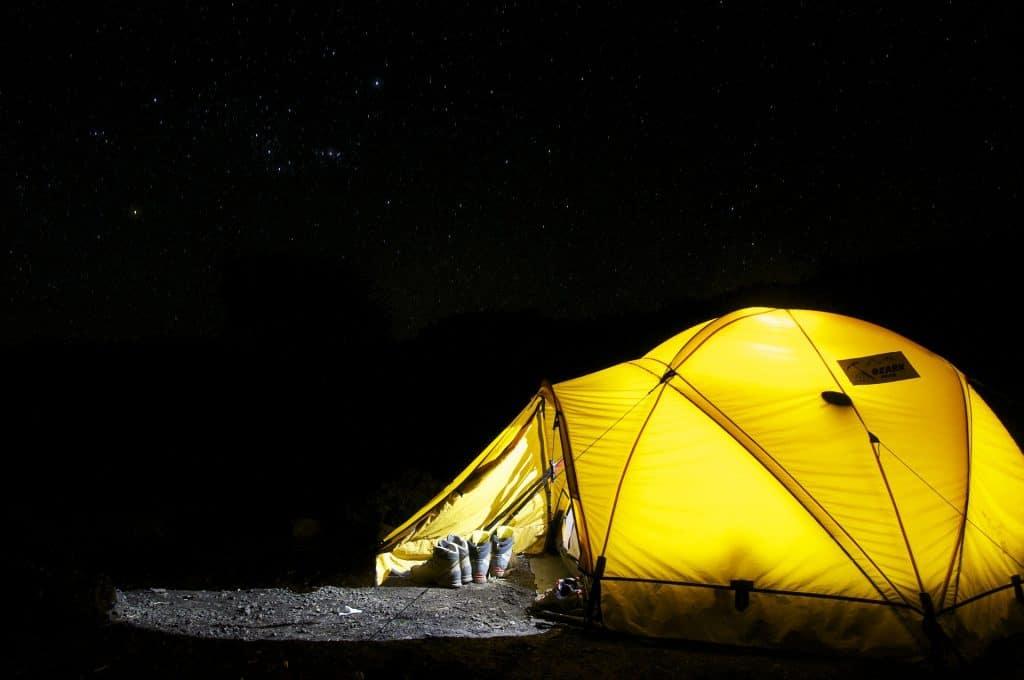 sleep outdoors