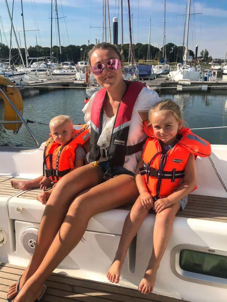 sailing with a baby and a toddler