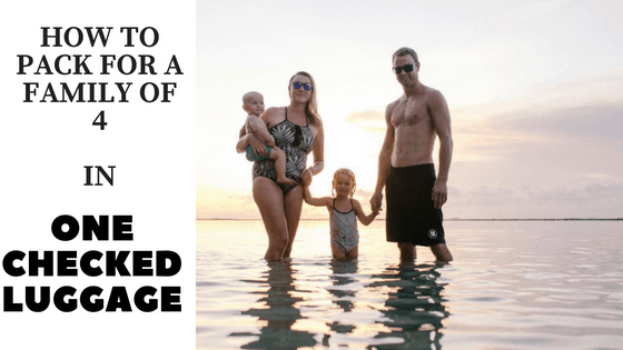 how to pack for a family