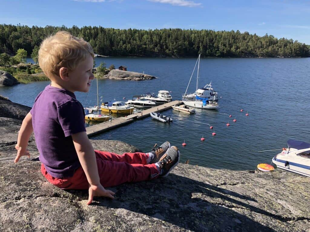 Stockholm and Grinda Island with a toddler