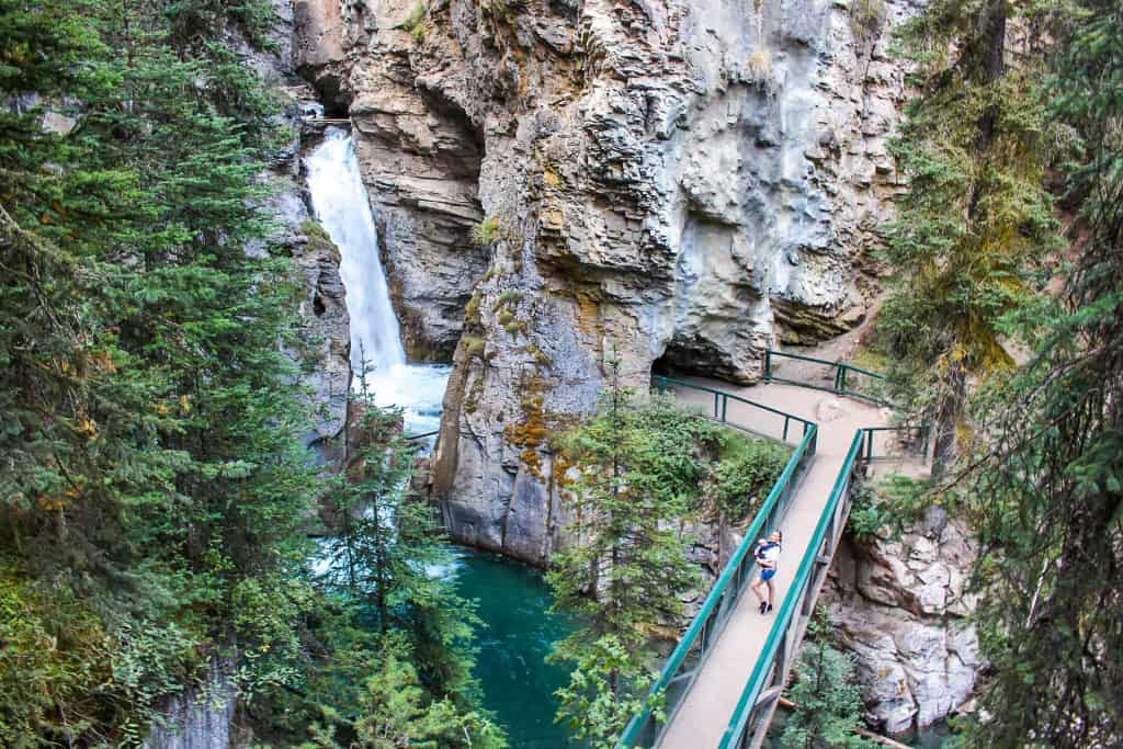 Johnston Canyon Waterfall - Banff National Park, Alberta