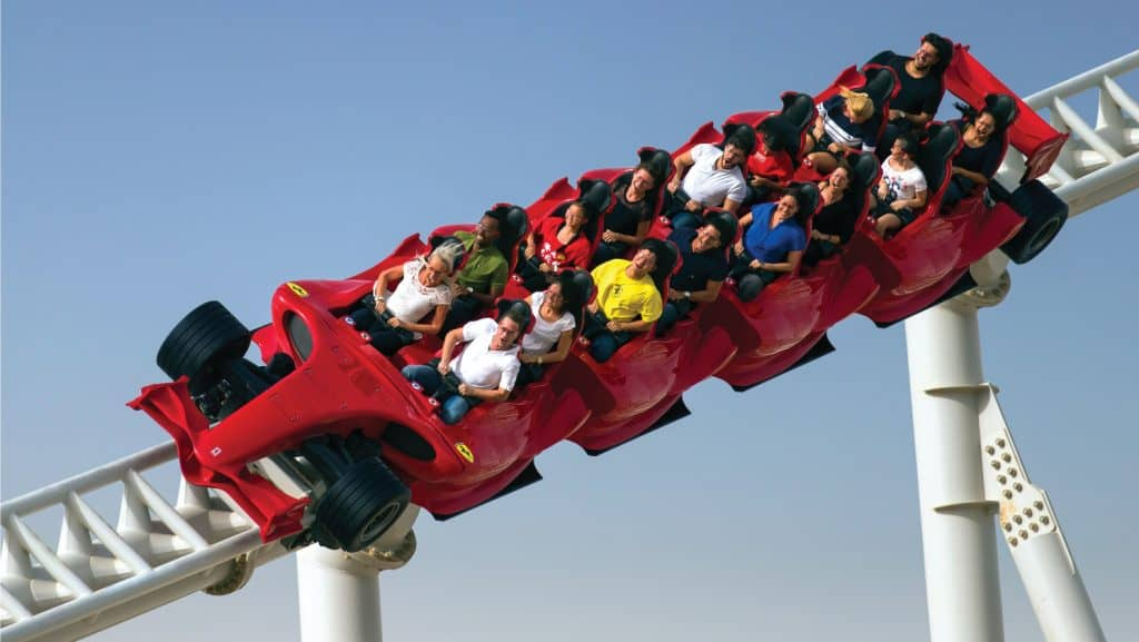 Ferrari World: home to the world's fastest rollercoaster