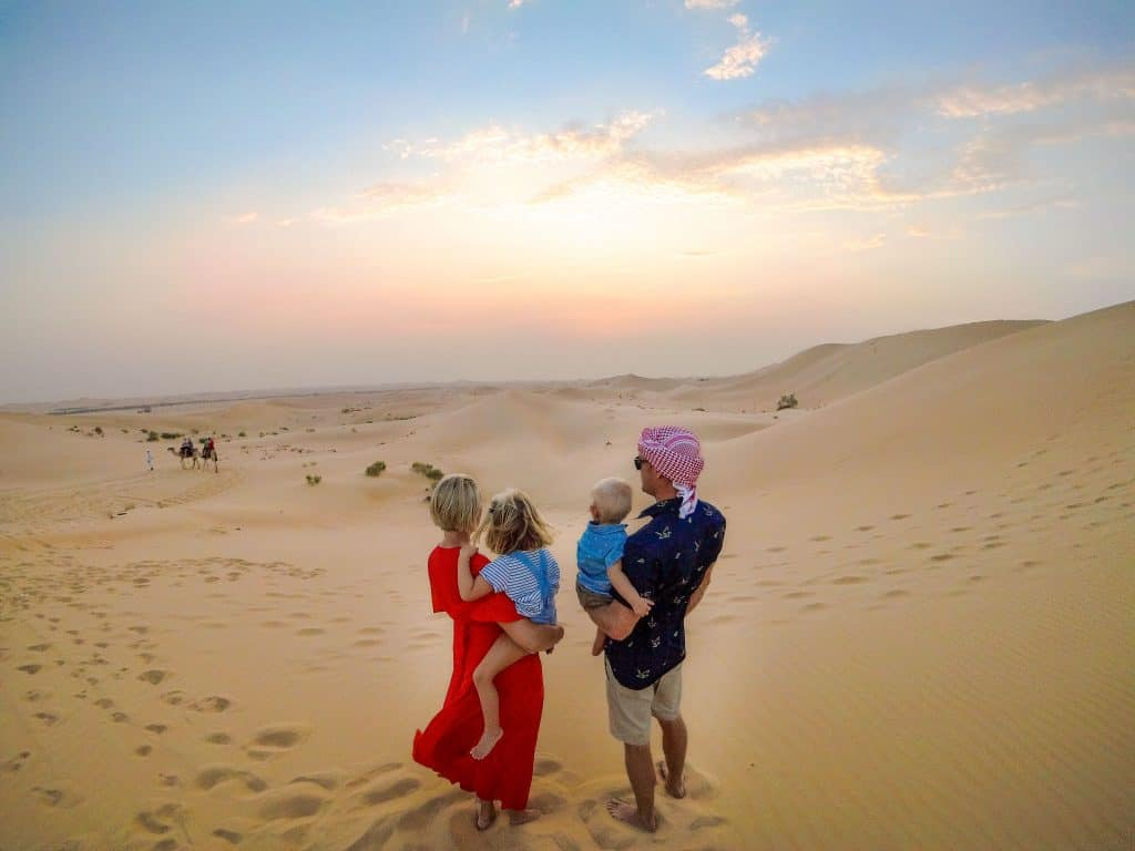 Abu Dhabi Desert Sand Dunes With Kids