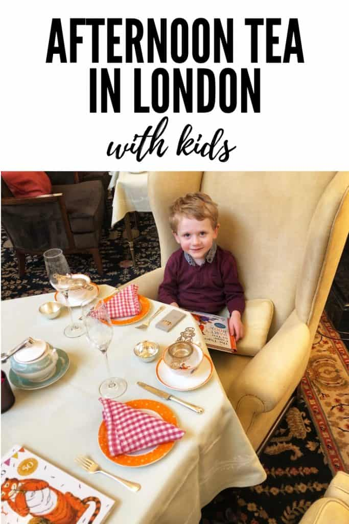 Afternoon Tea in London with kids