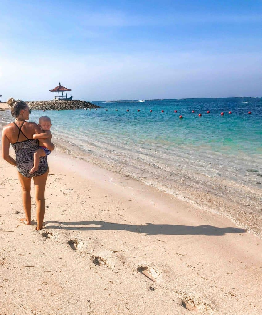 Bali travel with baby