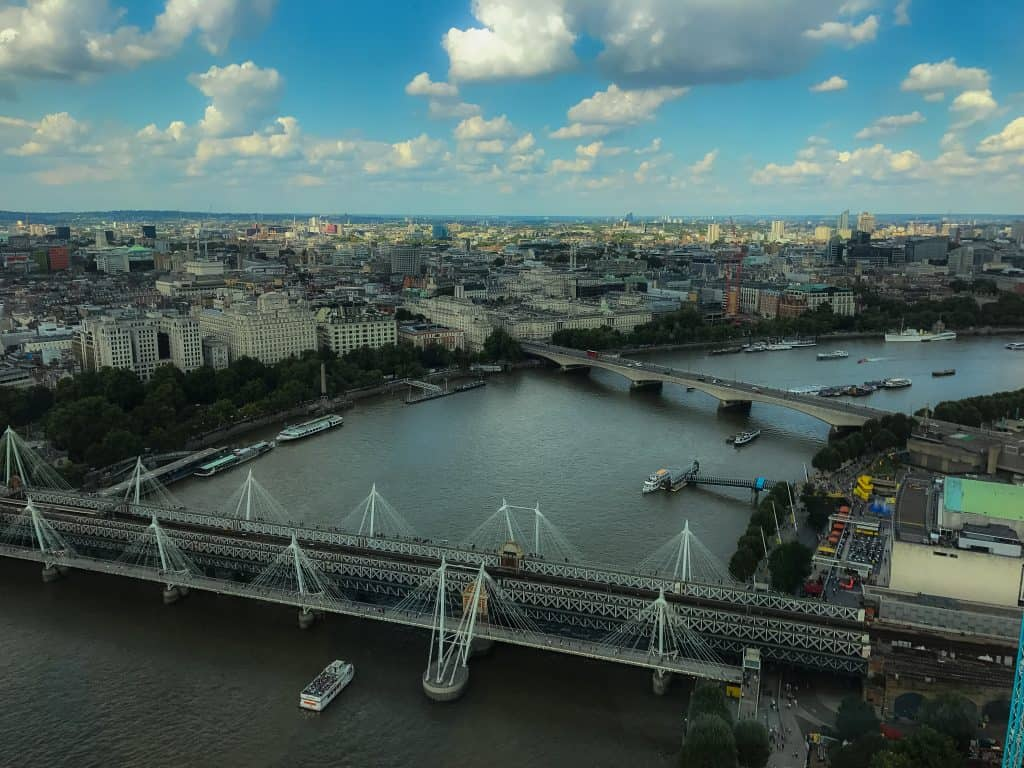 View from the London Eye Capsule