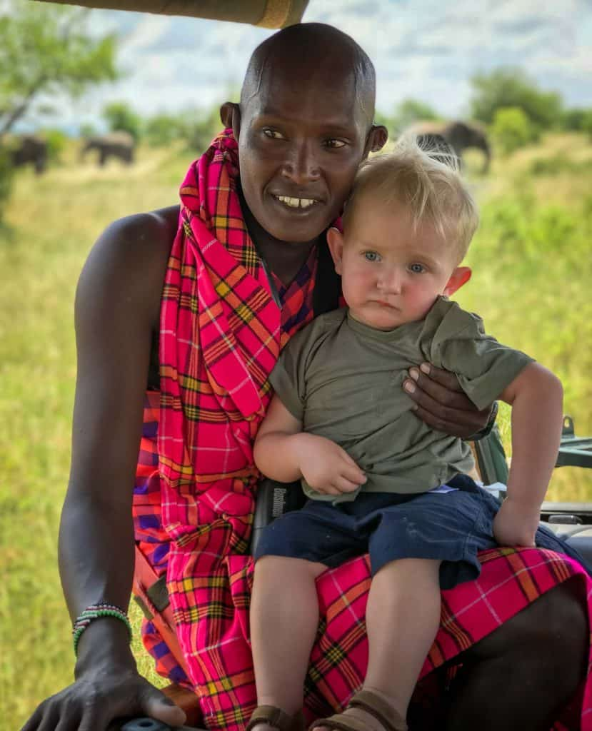 Maasai mara with kids