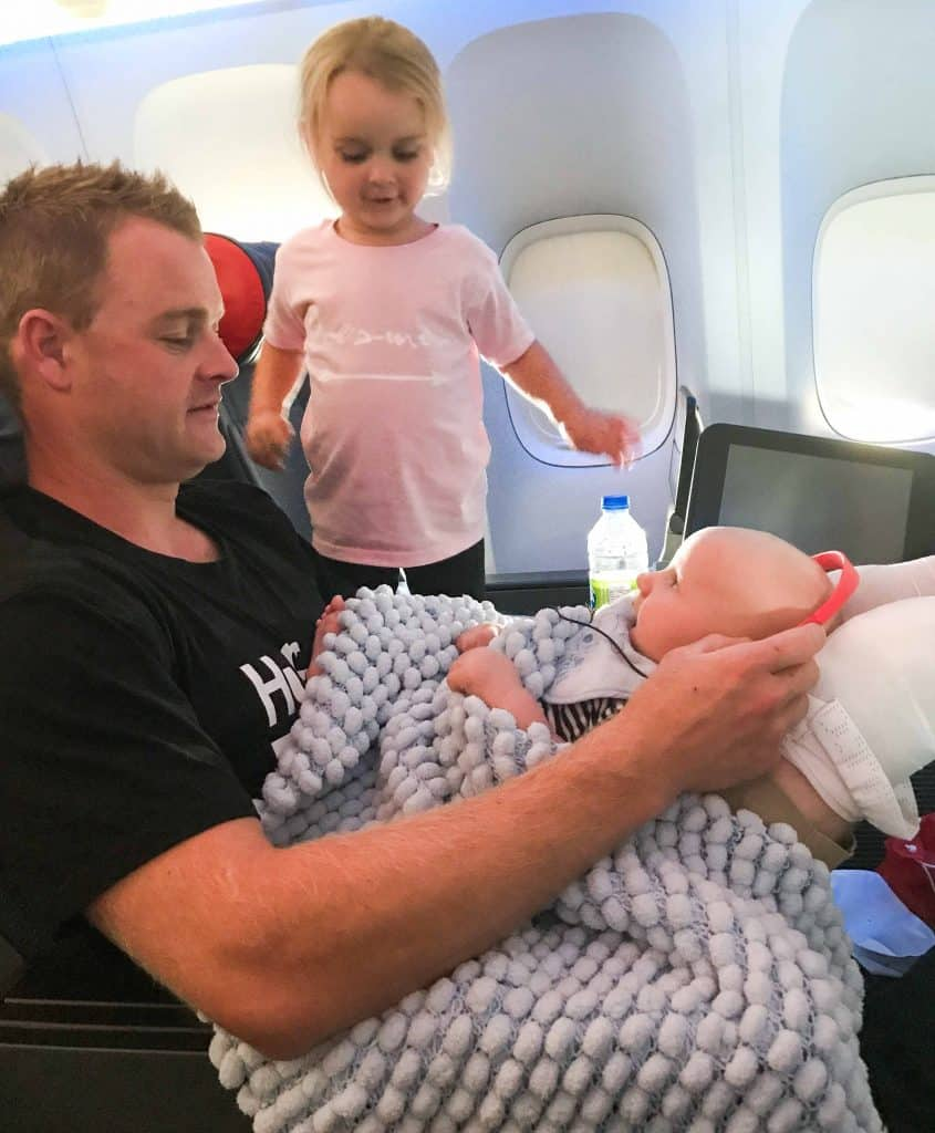Flying with a baby on your lap - lap infant