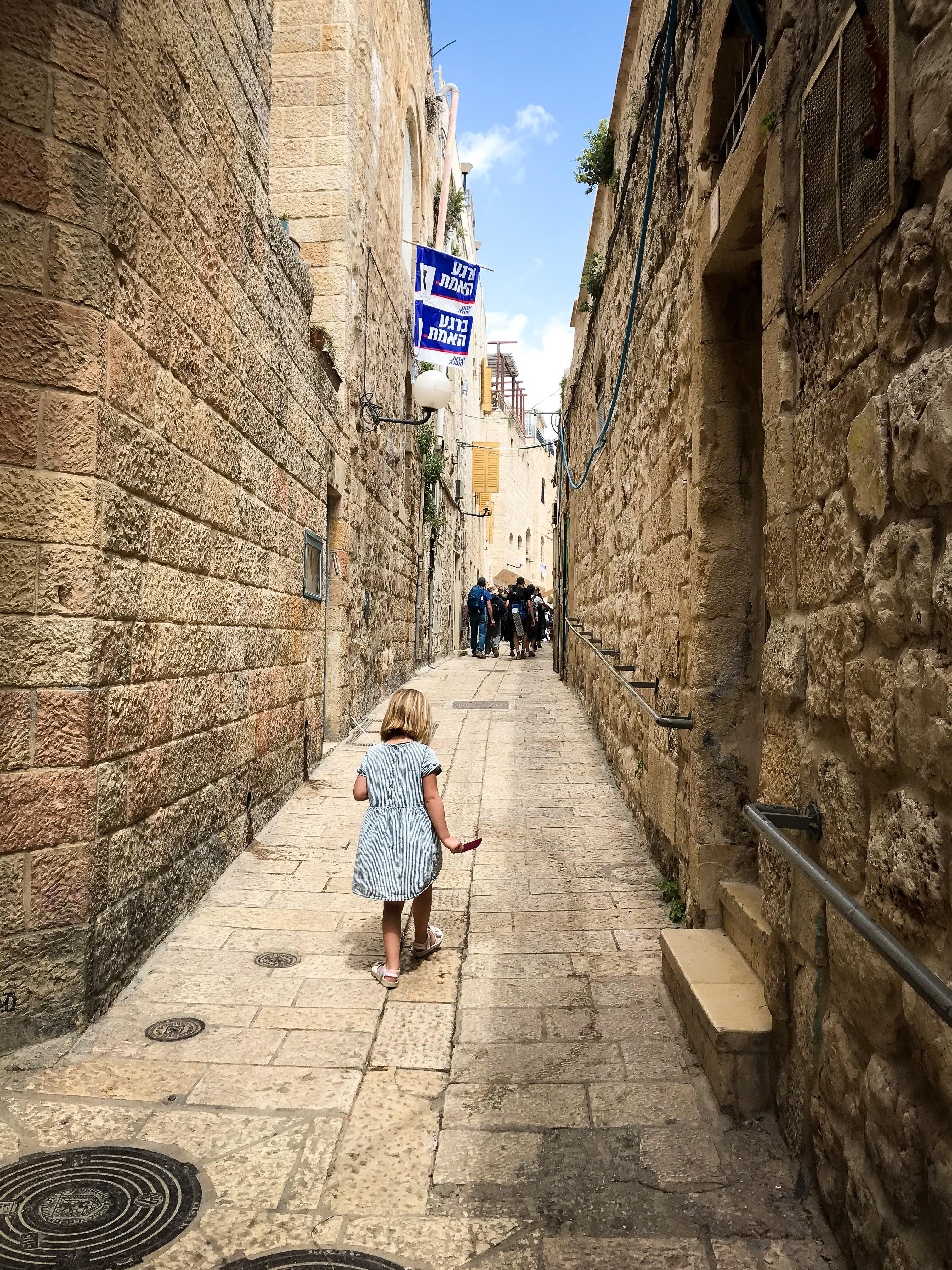 Jerusalem with Kids - The Old City - Alley