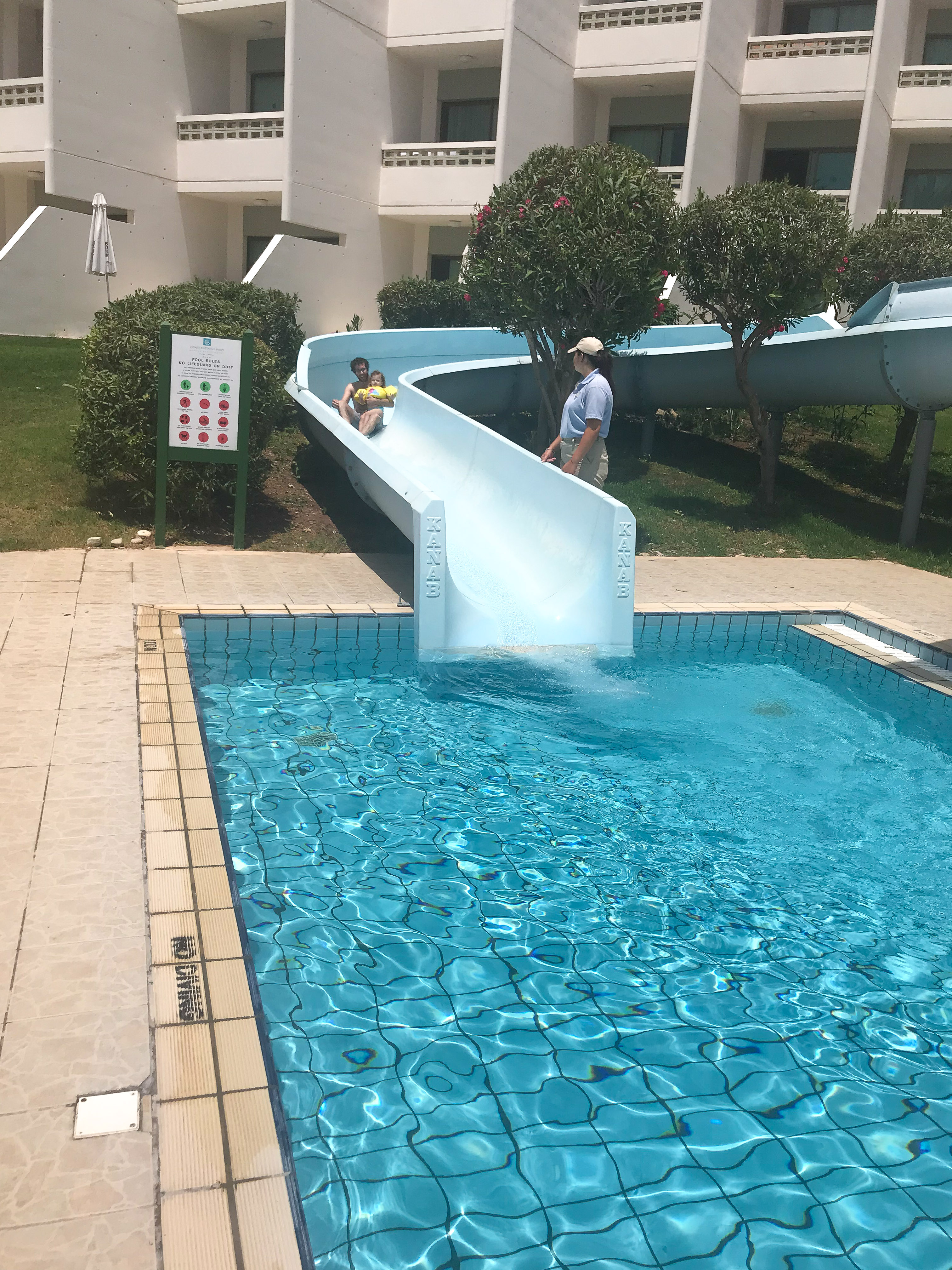 best family hotels in cyprus - Athena Beach Hotel Water Slide
