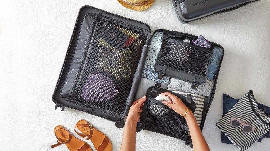 packing for flying with a baby