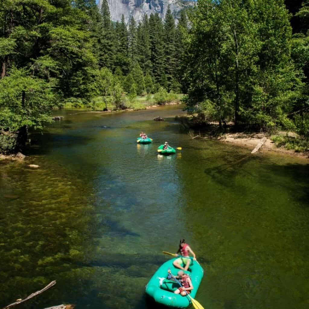 Rafting near Yosemite national park
