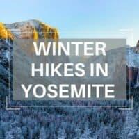 winter hikes Yosemite